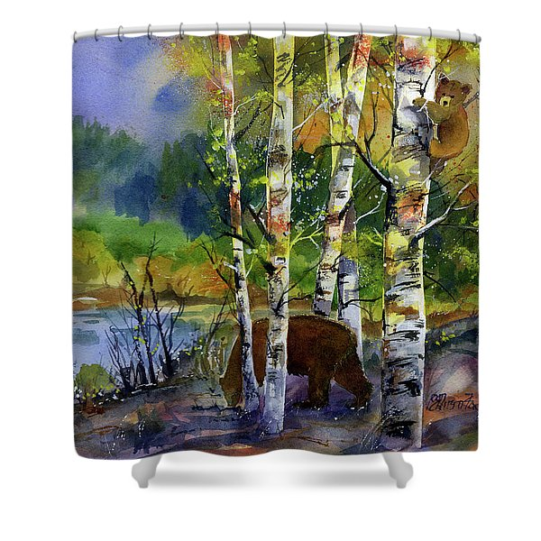 Aspen Bears #2 Shower Curtain