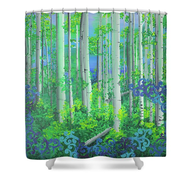 Aspens In July Shower Curtain