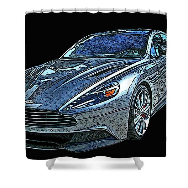 Aston Martin Db9 Shower Curtain