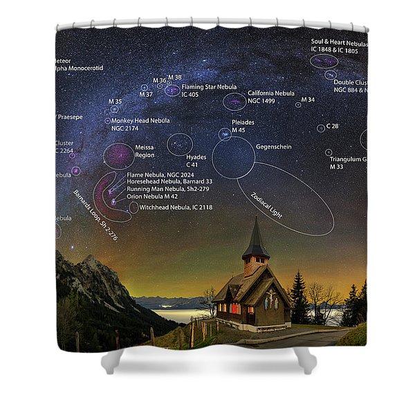 Astrophotography Winter Wonderland Shower Curtain
