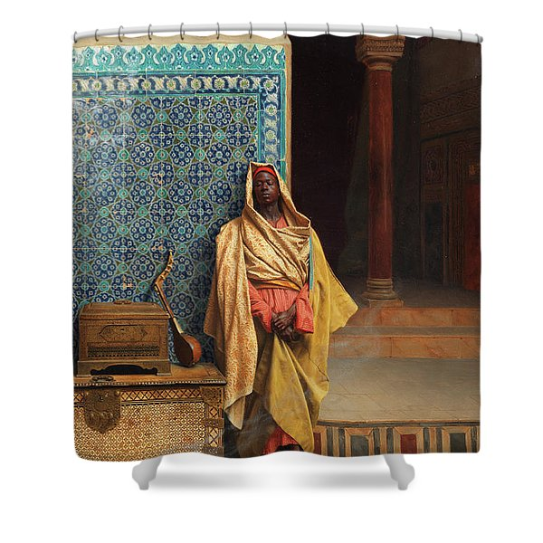 At The Mosque Shower Curtain