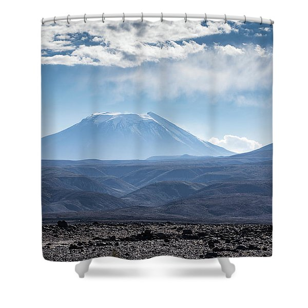 Atacama Volcano Shower Curtain