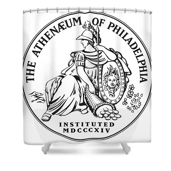 Athenaeum Of Philadelphia Logo Shower Curtain