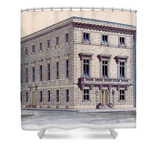 Athenaeum Perspective Shower Curtain