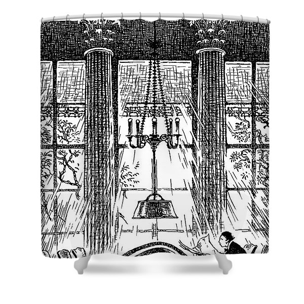 Athenaeum Reading Room Shower Curtain