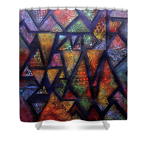 Attractive Mosaic  Shower Curtain