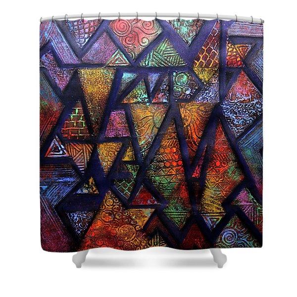 Attractive Mosaic  Shower Curtain