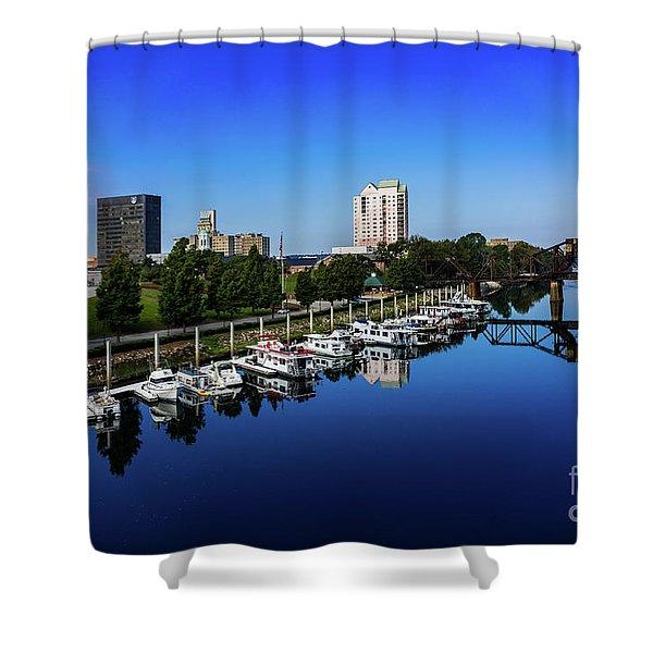 Augusta Ga Savannah River 2 Shower Curtain