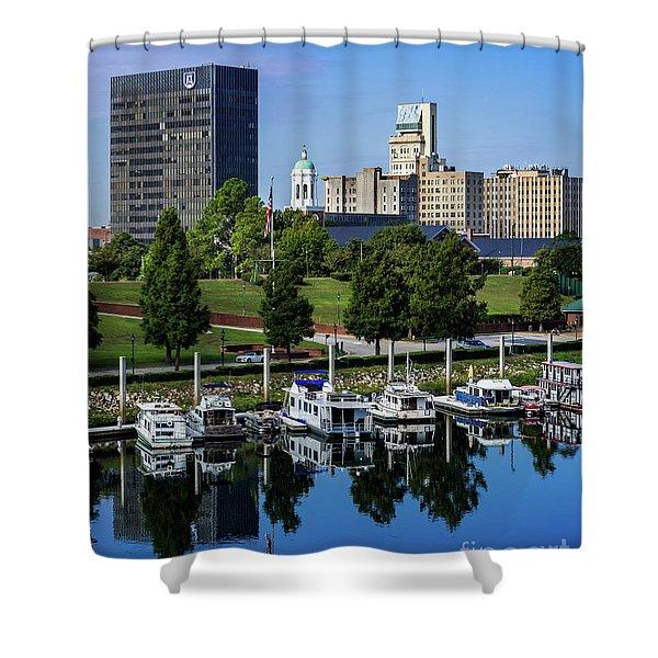 Augusta Ga Savannah River 3 Shower Curtain