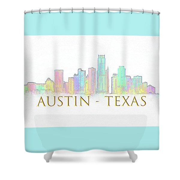 Austin Skyline Shower Curtain