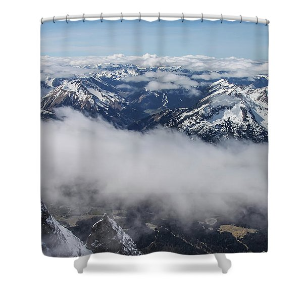 Shower Curtain featuring the photograph Austrian Alps by Dawn Richards