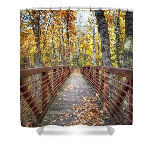 Autumn At Frog Bay  Shower Curtain