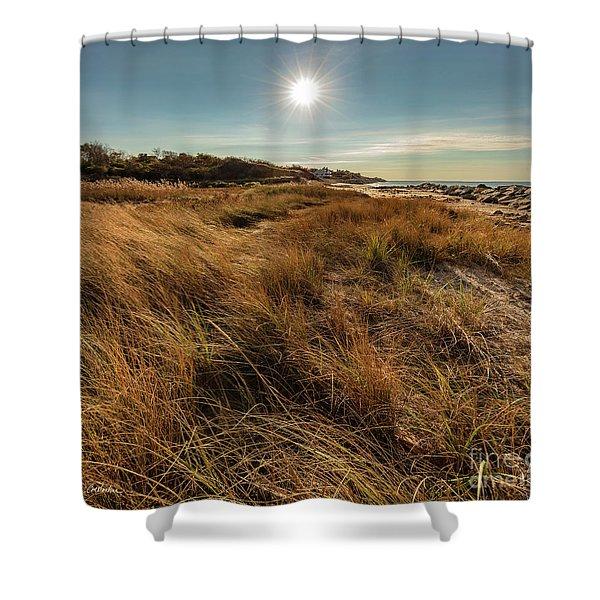 Autumn At The Beach Cape Cod Shower Curtain