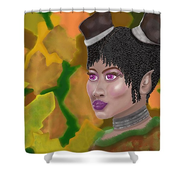 Autumn Fairy In Trouble Shower Curtain