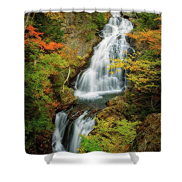 Shower Curtain featuring the photograph Autumn Falls, Crystal Cascade by Jeff Sinon