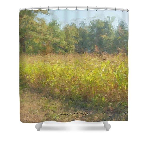 Autumn Field In Sunlight Shower Curtain