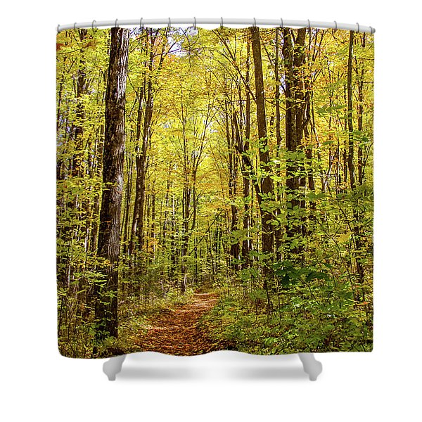 Shower Curtain featuring the photograph Autumn Hike by Dawn Richards