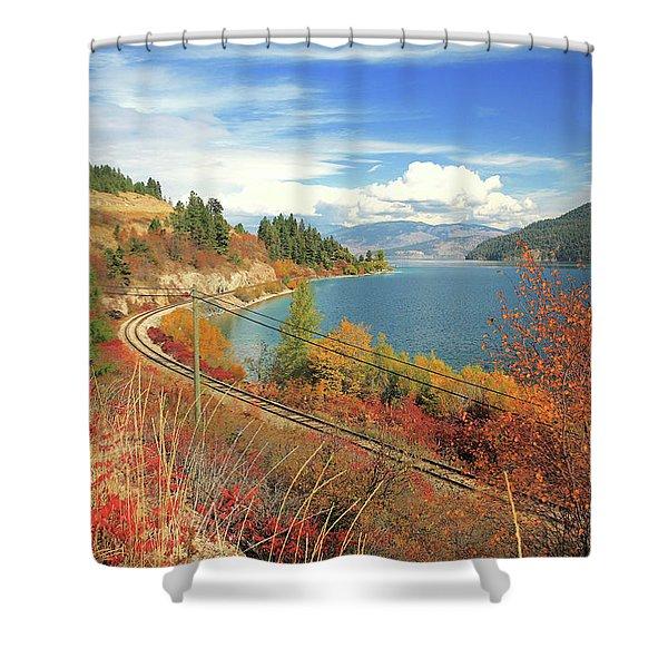 Autumn In Oyama And Kalamalka Lake Shower Curtain