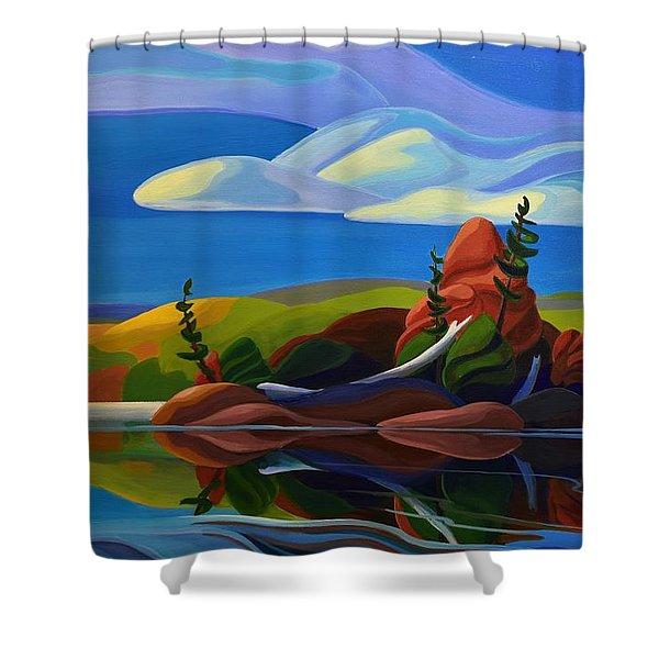 Autumn Island Shower Curtain