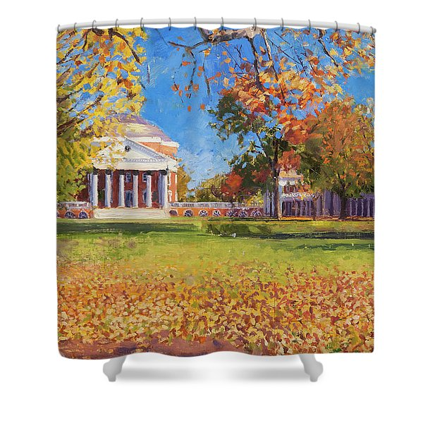 Autumn On The Lawn Shower Curtain