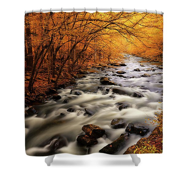 Autumn On The Little River Shower Curtain