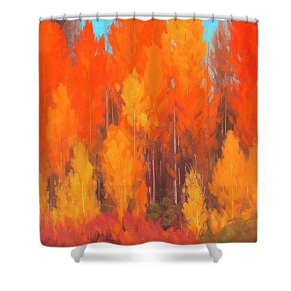 Autumn Repose Shower Curtain