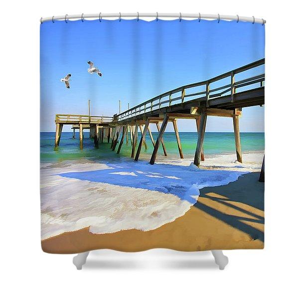 Avalon Pier Shower Curtain