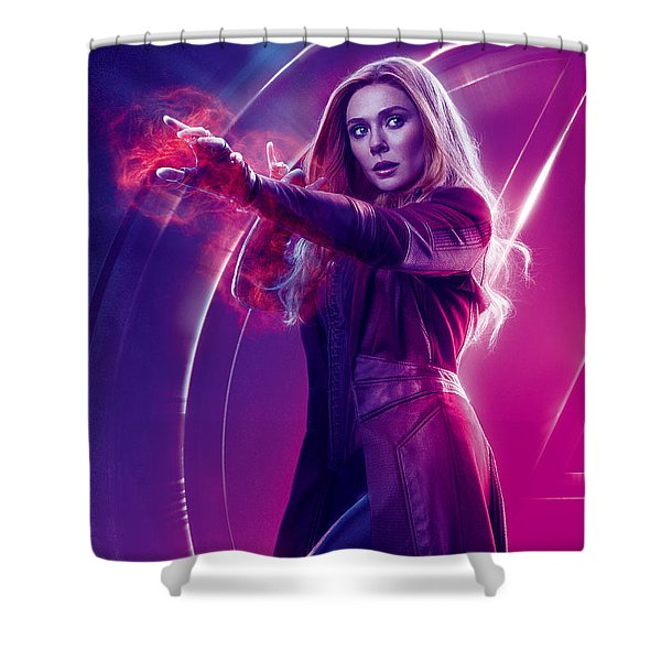 Avengers Scarlet Witch  Marvel Cinematic Universe Shower Curtain