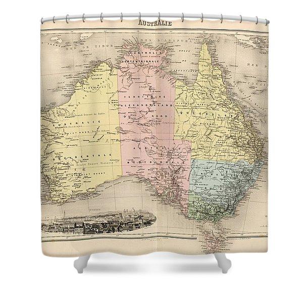 Avustralia, Australie  1892  Shower Curtain