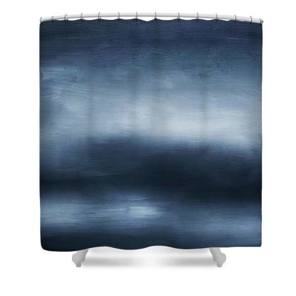 Azul 2- Art By Linda Woods Shower Curtain