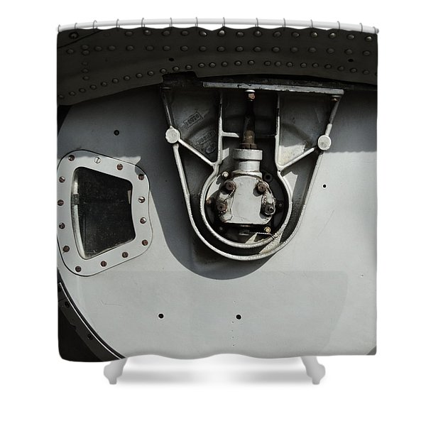 B-17 Ball Turret  Shower Curtain