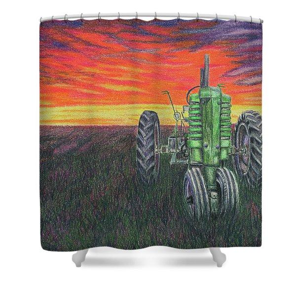 B Sunset Shower Curtain