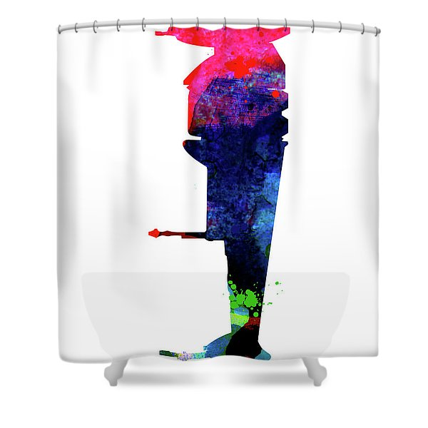 B-wing Watercolor Shower Curtain