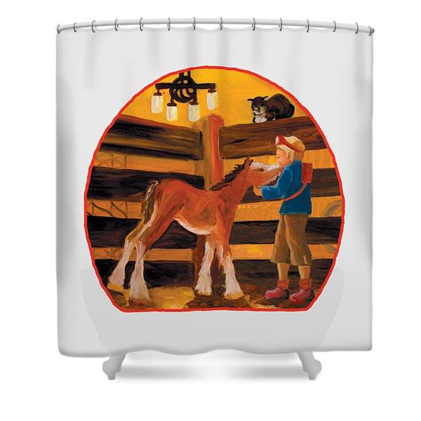 Baby Cricket's Kiss Shower Curtain