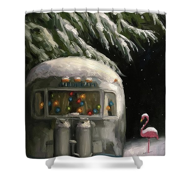 Baby, It's Cold Outside Shower Curtain
