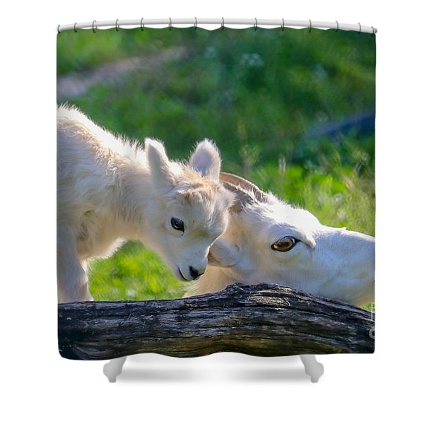 Baby Loves Mama Shower Curtain
