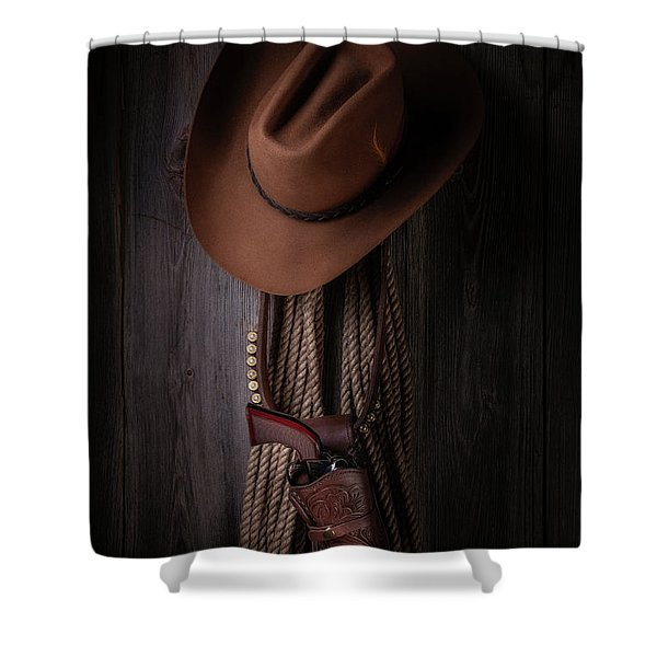 Back At The Bunkhouse Shower Curtain