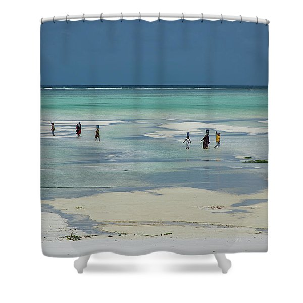 Back From Long Day Shower Curtain