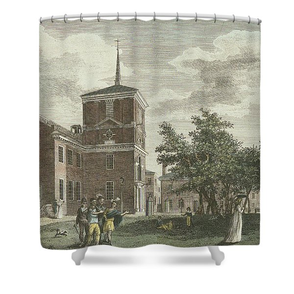 Back Of State House Shower Curtain