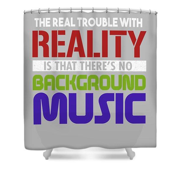Background Music Shower Curtain