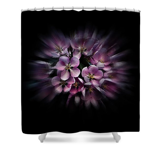 Backyard Flowers 47 Color Flow Version Shower Curtain