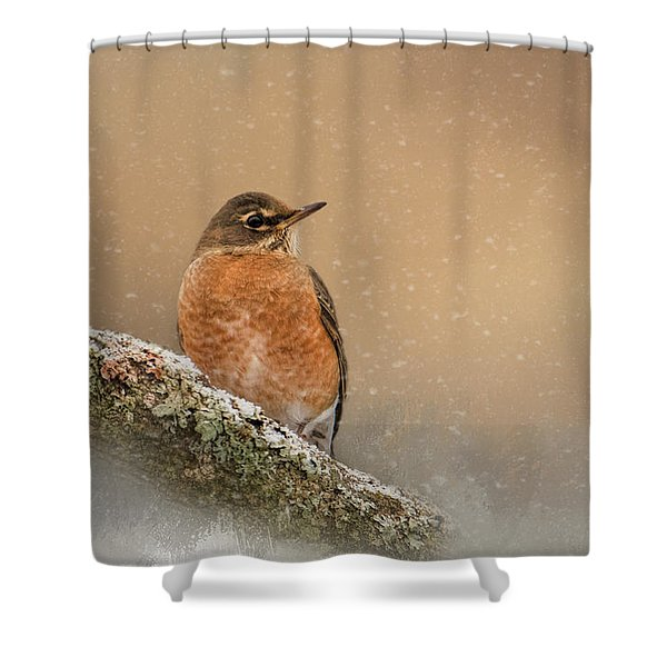 Backyard Visitor Shower Curtain