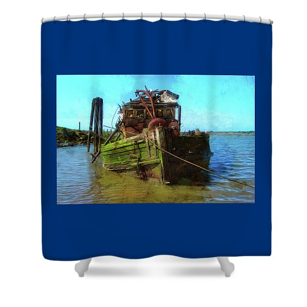 Bad Water Day Shower Curtain