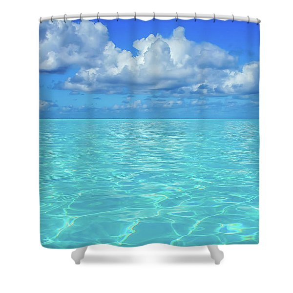 Shower Curtain featuring the photograph Bahama Blues, Half Moon Cay by Dawn Richards