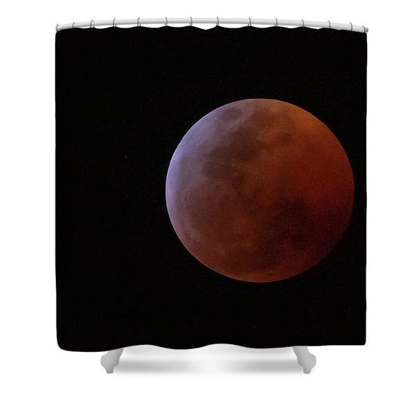 Bahamian Super Blood Wolf Moon Shower Curtain