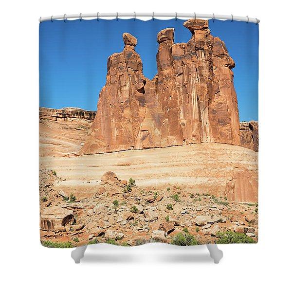 Balanced Rocks In Arches Shower Curtain