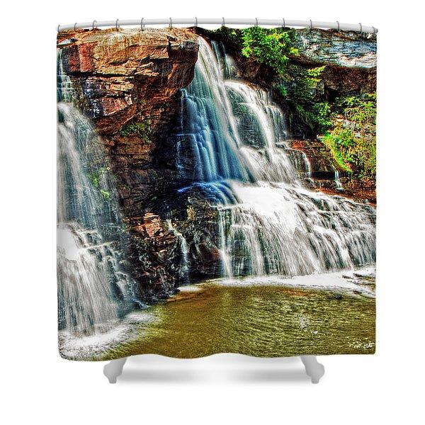 Balckwater Falls - Closeup Shower Curtain