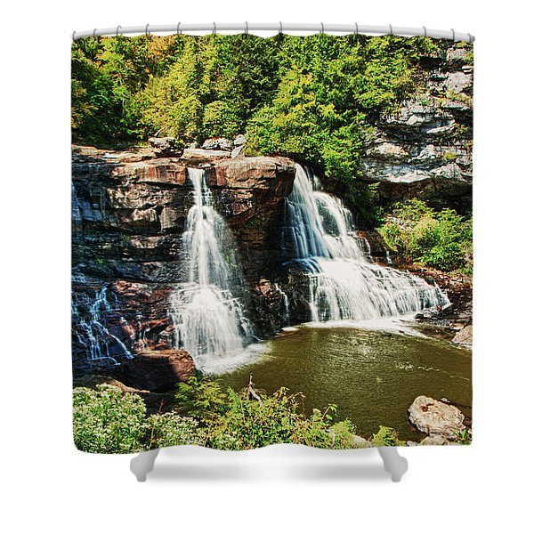 Balckwater Falls - Wide View Shower Curtain