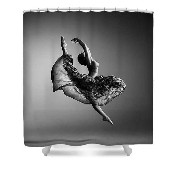 Ballerina Jumping Shower Curtain