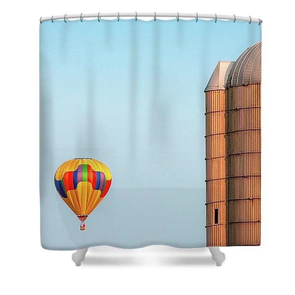 Balloon And Silo Shower Curtain